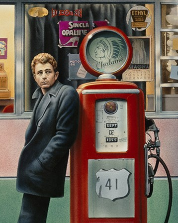 James Dean by Yellow Café art print