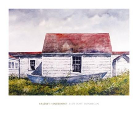 Blue Dory, Monhegan by Bradley Hendershot art print