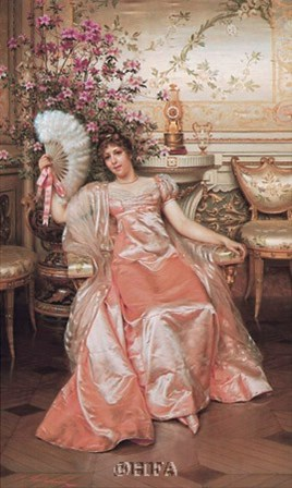 Lady with the Fan by Joseph Frederic Soulacroix art print