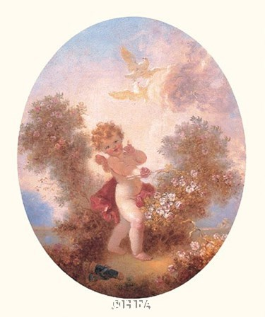 Cupid Between Roses by Jean-Honore Fragonard art print