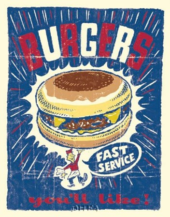Burgers by Joe Giannakopoulos art print