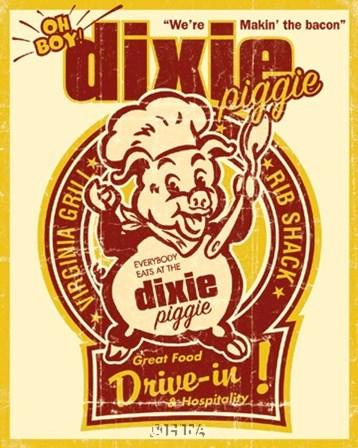 Dixie Piggie Drive-In by Joe Giannakopoulos art print