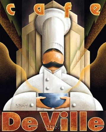 Cafe de Ville by Michael Kungl art print