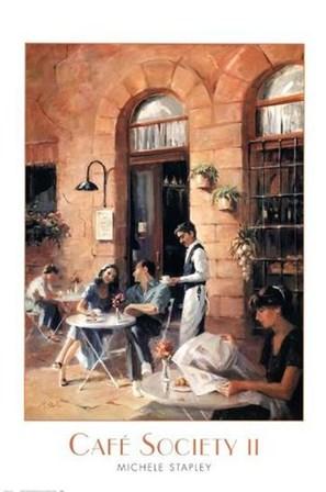 Cafe Society II by Michele Stapley art print