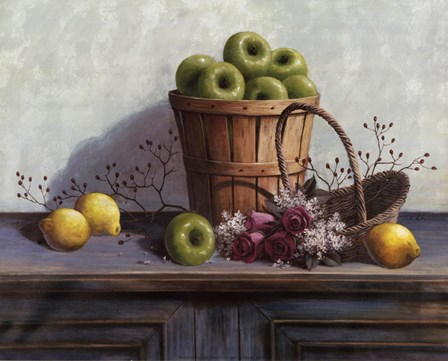 Green Apples and Lemons by T.C. Chiu art print