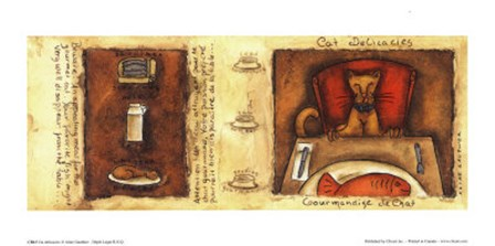 Cat delicacies by Aline Gauthier art print