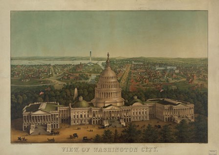 View of Washington City, c. 1869 by Vintage Reproduction art print