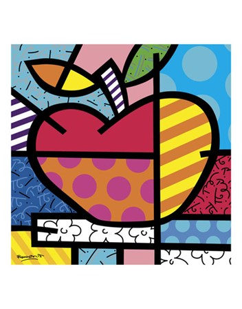 The Apple by Romero Britto art print