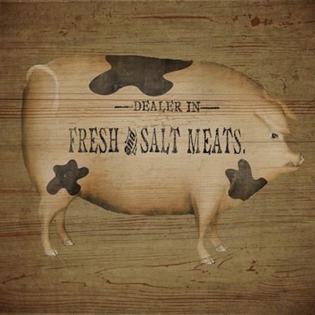 Pig Sign by Beth Albert art print