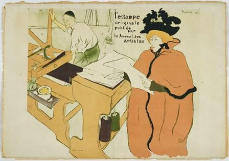 L'estampe Originale by Henri de Toulouse-Lautrec art print