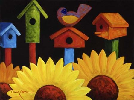 Midnight Garden by Oscar Ortiz art print