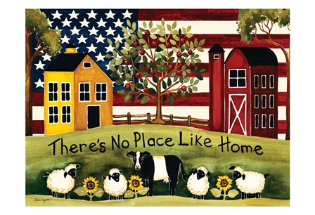 No Place Like Home by Laurie Korsgaden art print