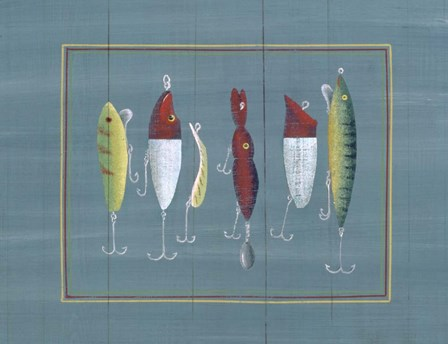 Fishing Hooks 1 by Susan Clickner art print