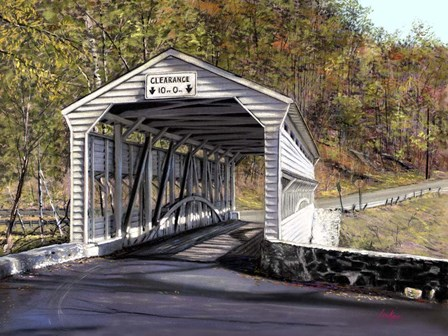 Knox Bridge - Valley Forge Pa by Thomas Linker art print