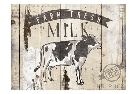 Farm Fresh Milk Horizontal by OnRei art print