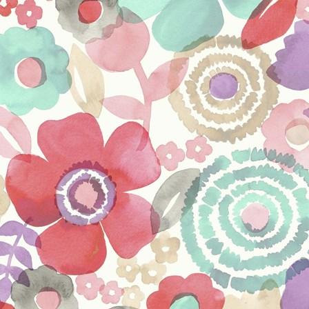 Ocean Shores Floral II by Diane Kappa art print