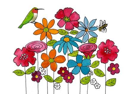 Addison's Garden by Blenda Tyvoll art print
