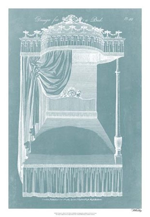 Design for a Bed I by Hepplewhite art print