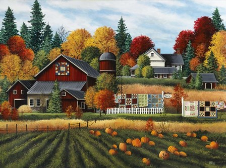 Autumn on the Farm by Debbi Wetzel art print