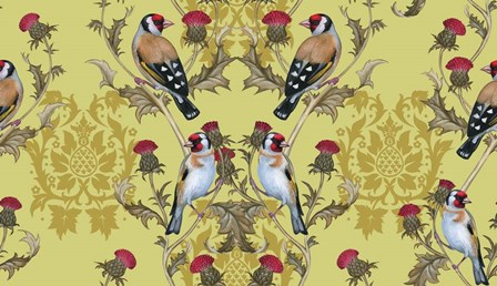 Goldfinches (Pattern) by Maria Rytova art print