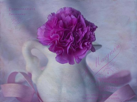 One Pink Carnation by Bob Rouse art print
