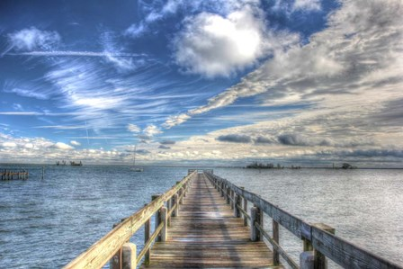Long Pier Sebastian Florida by Robert Goldwitz art print
