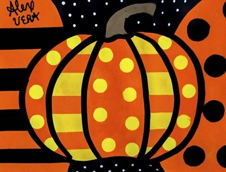 Halloween Pumpkin by Alex Vera art print