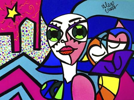 Big Eye Girl by Alex Vera art print