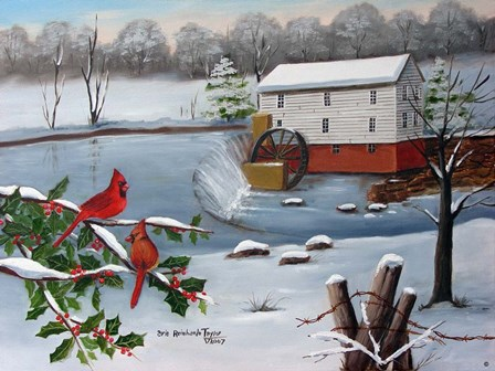 Murray's Mill in The Snow by Arie Reinhardt Taylor art print