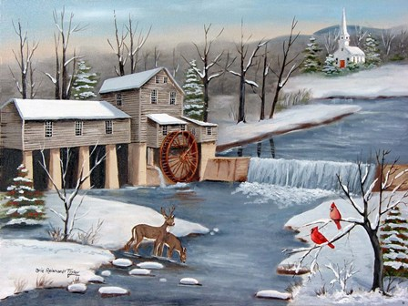 Pigeon Forge In The Winter by Arie Reinhardt Taylor art print