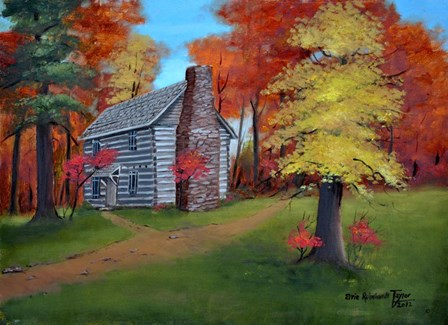 Hickory Tavern in Autumn by Arie Reinhardt Taylor art print