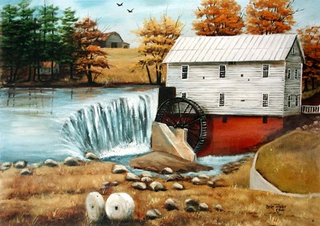 Murray's Mill in the Fall by Arie Reinhardt Taylor art print
