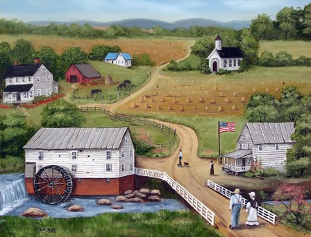 Murray's Mill The Past by Arie Reinhardt Taylor art print
