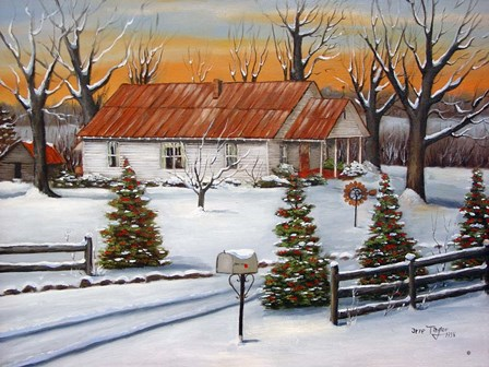 Mom and Dad's in Winter by Arie Reinhardt Taylor art print