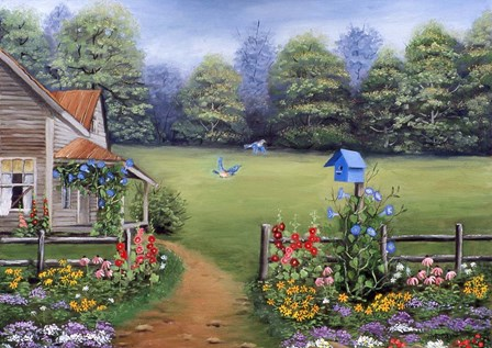 Bluebird House by Arie Reinhardt Taylor art print