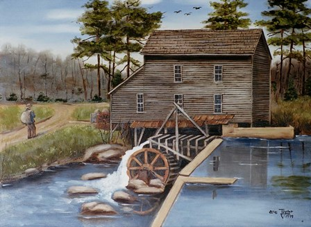 Howard's Creek Mill 1930s by Arie Reinhardt Taylor art print