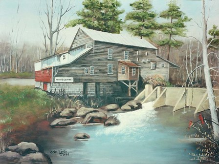 Howard's Creek Mill by Arie Reinhardt Taylor art print