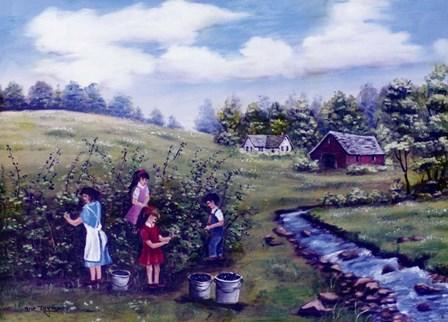 Pickin' Blackberries 2 by Arie Reinhardt Taylor art print