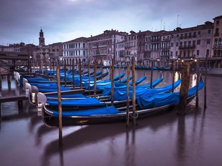 Blue Gondolas 2 by Assaf Frank art print