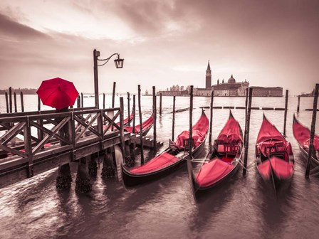 Red Gondolas by Assaf Frank art print