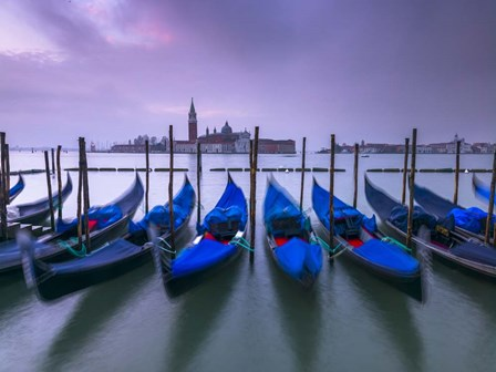 Gondolas & St Marks Sq by Assaf Frank art print