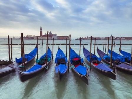 Blue Gondolas 4 by Assaf Frank art print