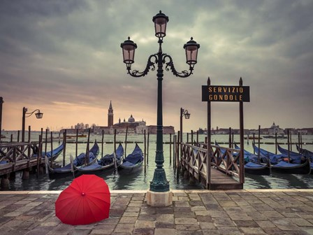 Red Umbrella 3 by Assaf Frank art print