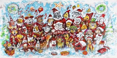 Christmas Choir 1 by Bill Bell art print