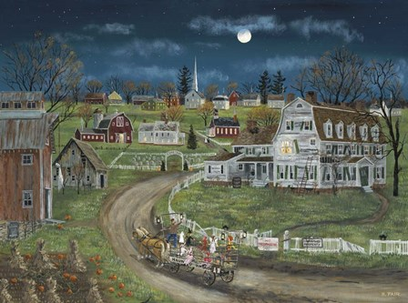 Haunted Hayride by Bob Fair art print