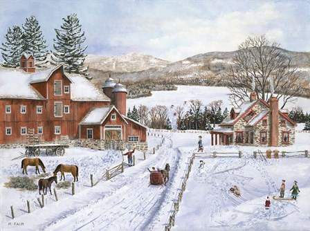 Hidden Lake Farm by Bob Fair art print