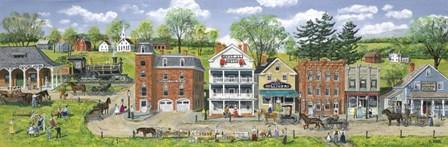 Depot Street by Bob Fair art print