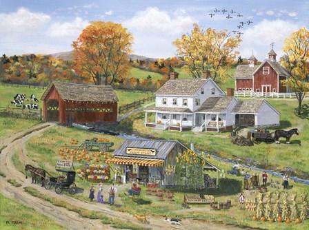 Scarecrow Farm Stand by Bob Fair art print