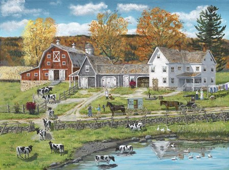 Friends on the Farm by Bob Fair art print