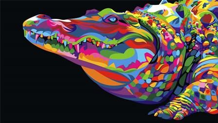 Crocodile Smile by Bob Weer art print